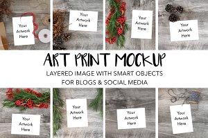 Art Print Mockups w/Smart Objects