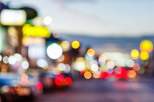 Blur car and traffic