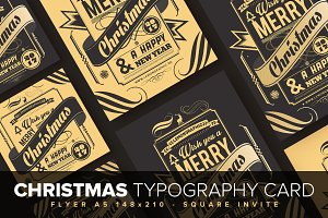 Christmas Typography Card Design