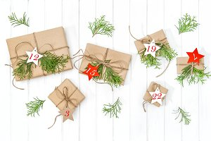 Wrapped gifts Advent calendar