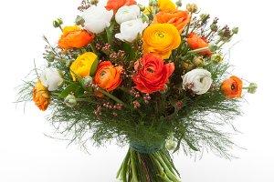 Ranunculus flowers bouquet