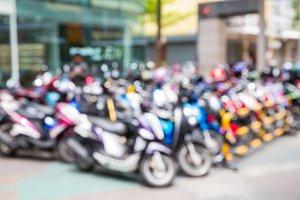 Blur motorcycle