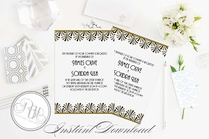 Art Deco Wedding Invite-Bridgette