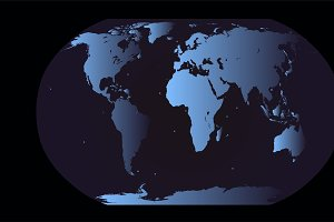 World map planet blue vector