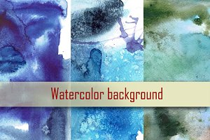 Set of 3 watercolor background