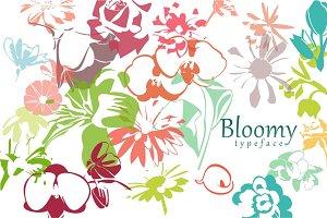 Bloomy typeface