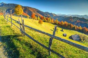 Autumn rural landscape near Brasov