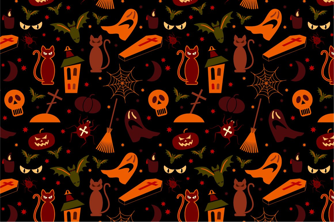 2 Halloween Seamless Pattern ~ Patterns ~ Creative Market