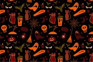 2 Halloween Seamless Pattern
