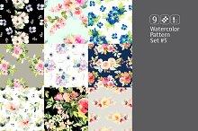 9 watercolor seamless patterns #5