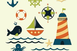 Nautical Sea Clipart Elements