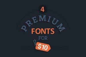 Pack - 4 Premium Fonts