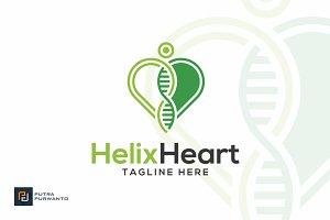 Helix Heart - DNA Logo