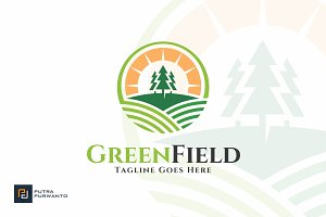 Green Field - Farm Logo