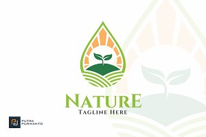 Nature Farm - Water Logo