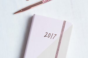 New Year Rose Gold Diary photo