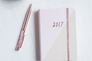 New Year Rose GoldDiary Marble photo