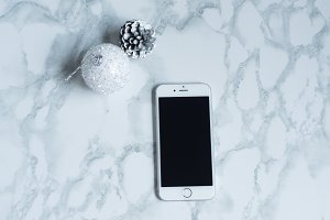 Marble Silver Christmas stock image