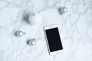 Marble Christmas iphone Stock Photo