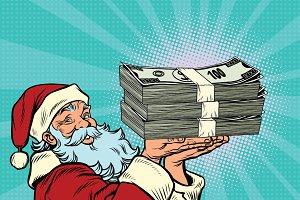 Santa Claus money dollars