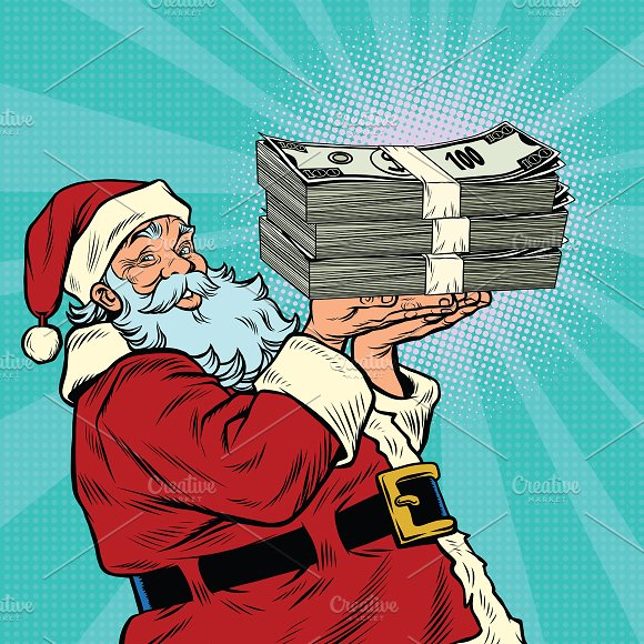 Santa Claus Money Dollars