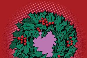 Christmas wreath of Holly