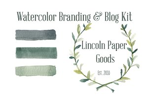 Watercolor Branding and Blog Kit