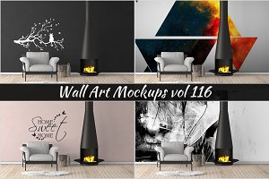 Wall Mockup - Sticker Mockup Vol 116