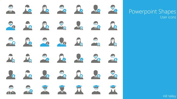 42 PowerPoint Shapes Users