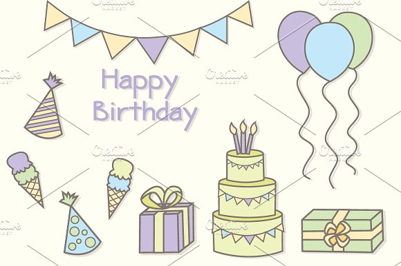 Birthday Party Clipart Vector