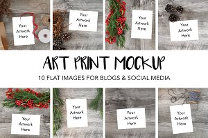 Art Print Styled Photos for Mockup