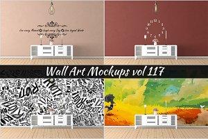 Wall Mockup - Sticker Mockup Vol 117