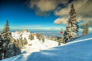 Amazing winter ski resort