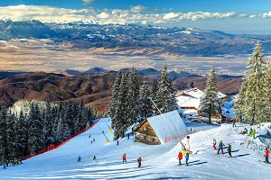 Stunning winter ski resort