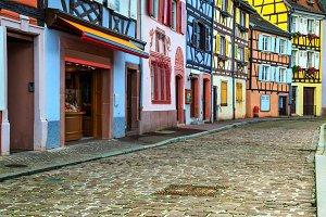 Colorful medieval facades,Colmar