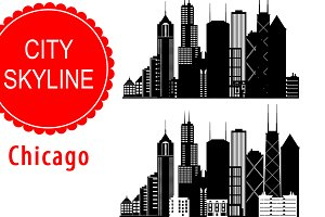 Chicago vector skyline