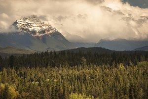 Jasper Peak in Clouds