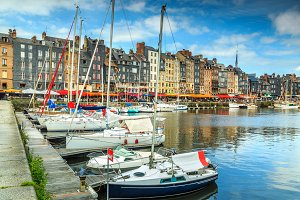 Old harbor in Honfleur,France