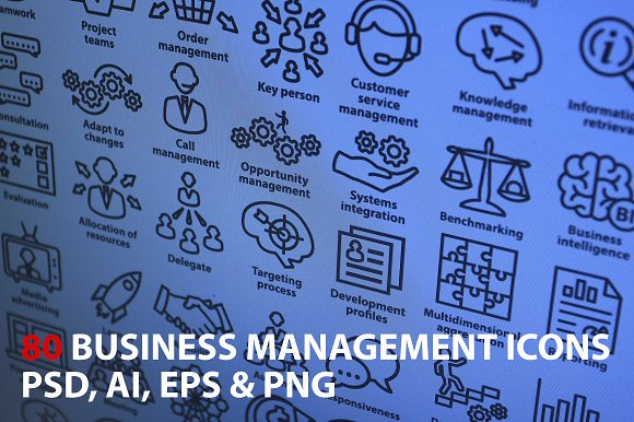 Business Management Icons. Pack 1. - Icons