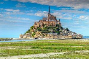 Mont Saint Michel tidal island