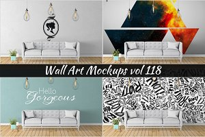 Wall Mockup - Sticker Mockup Vol 118