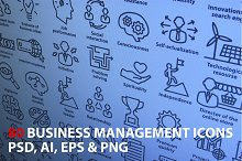 Business Management Icons. Pack 2.