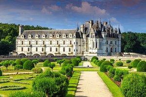 Famous castle of Chenonceau,France