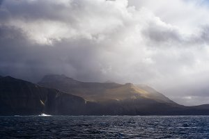 Stormy Coastline in Autumn