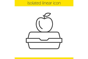 Lunchbox linear icon. Vector