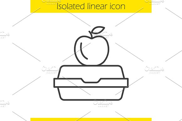 Lunchbox linear icon. Vector - Icons