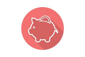 Piggybank icon. Vector