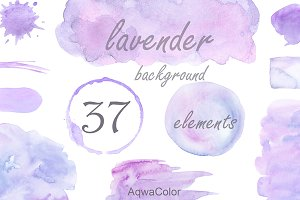 Lavender background clipart