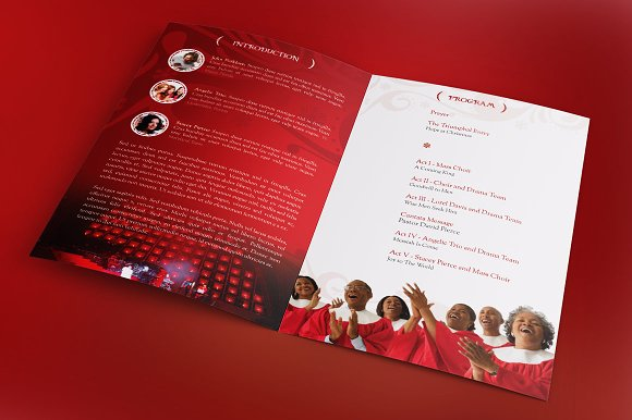 Christmas cantata program template brochure templates creative christmas cantata program template brochure templates creative market pronofoot35fo Gallery