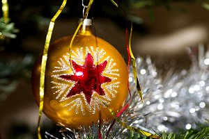 Christmas ornament with red star